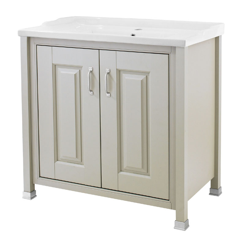 Old London - 800 Traditional 2-Door Basin & Cabinet - Stone Grey - LDF405 Large Image