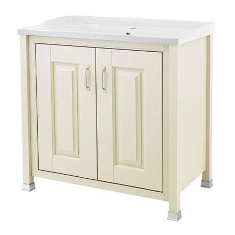 Old London - 800 Traditional 2-Door Basin & Cabinet - Ivory - LDF305
