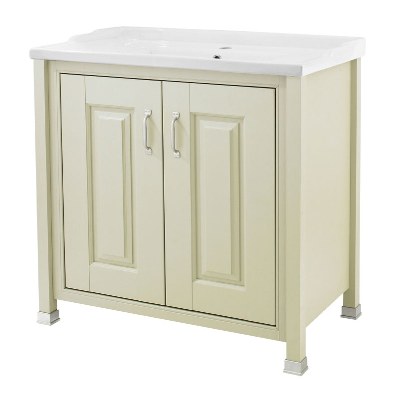 Old London - 800 Traditional 2-Door Basin & Cabinet - Pistachio - LDF205 Large Image