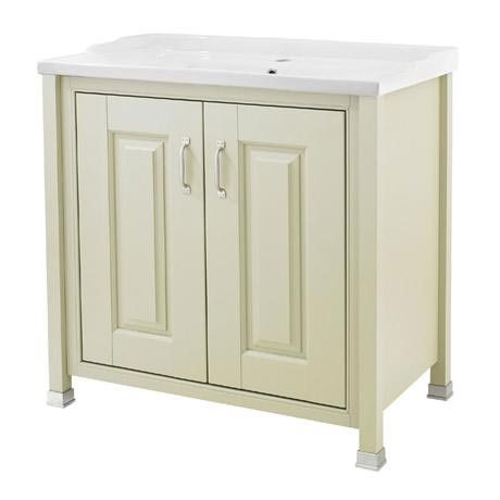 Old London - 800 Traditional 2-Door Basin & Cabinet - Pistachio - LDF205