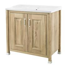 Old London - 800 Traditional 2-Door Basin & Cabinet - Natural Walnut - LDF505 Medium Image