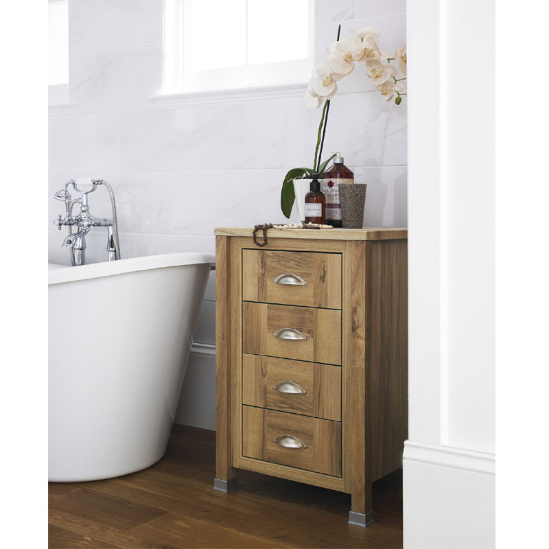 Old London - 450 4-Drawer Unit - Natural Walnut - NLV533 Feature Large Image