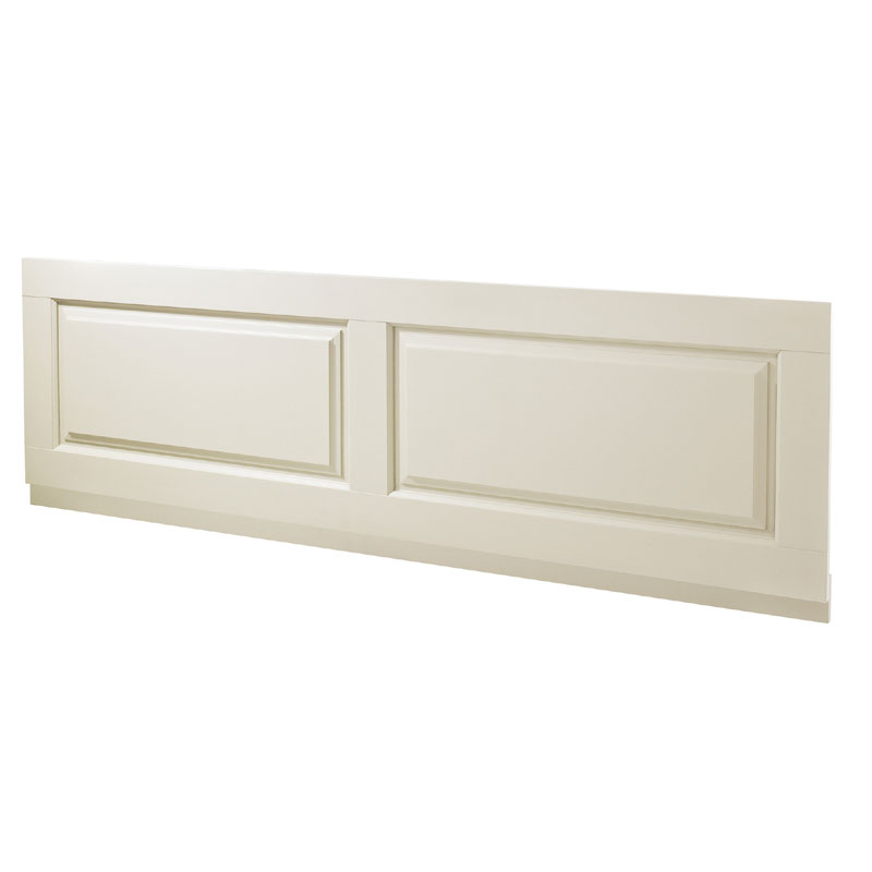 Old London - Front Bath Panel & Plinth - Ivory - 2 Size Options Large Image