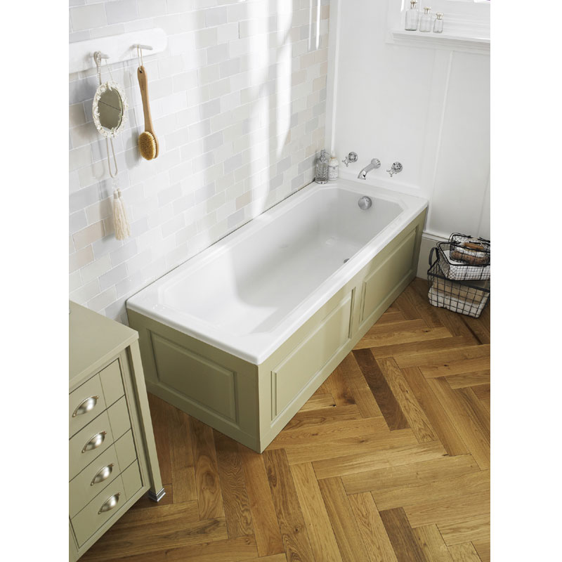 Old London - End Bath Panel & Plinth - Ivory - 3 Size Options Profile Large Image
