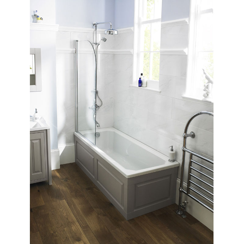 Old London - End Bath Panel & Plinth - Ivory - 3 Size Options Feature Large Image