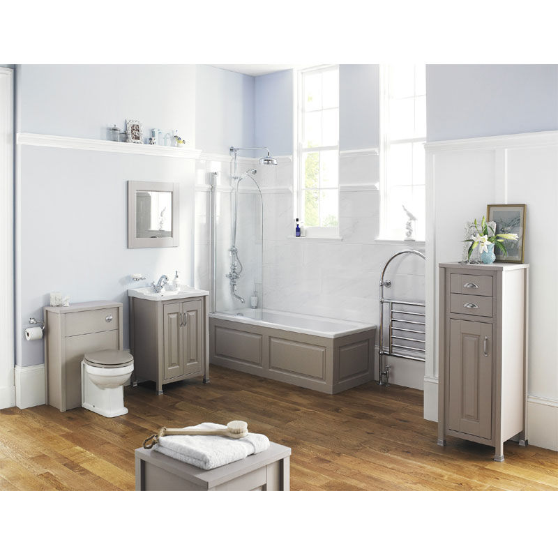 Old London - 600 Back to wall WC Unit - Stone Grey - NLV443 profile large image view 2