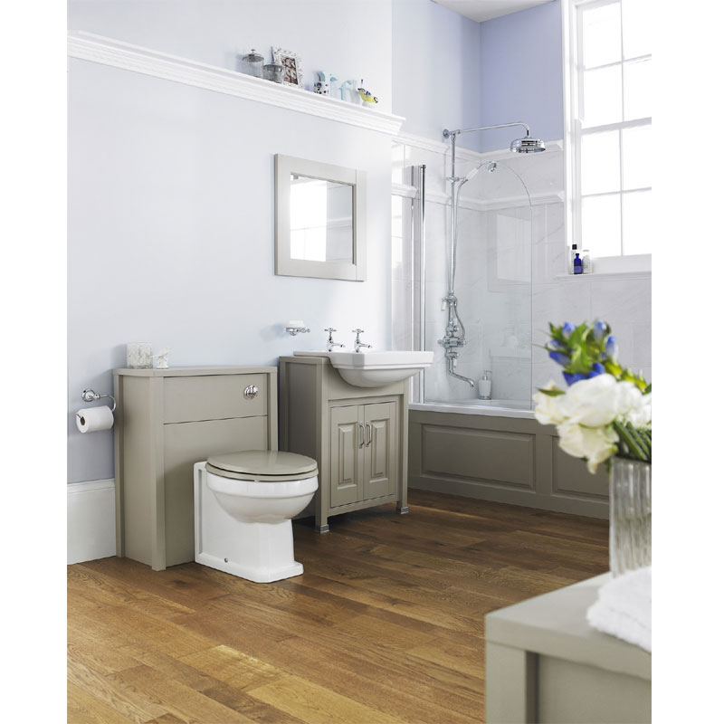 Old London - 600 Back to wall WC Unit - Stone Grey - NLV443 profile large image view 3