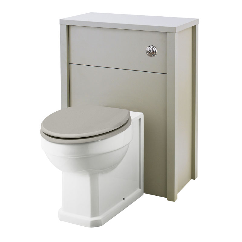 Old London - 600 Back to wall WC Unit - Stone Grey - NLV443 Large Image