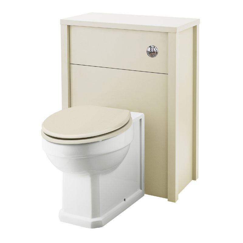 Old London - 600 Back to wall WC Unit - Ivory - NLV343 Large Image
