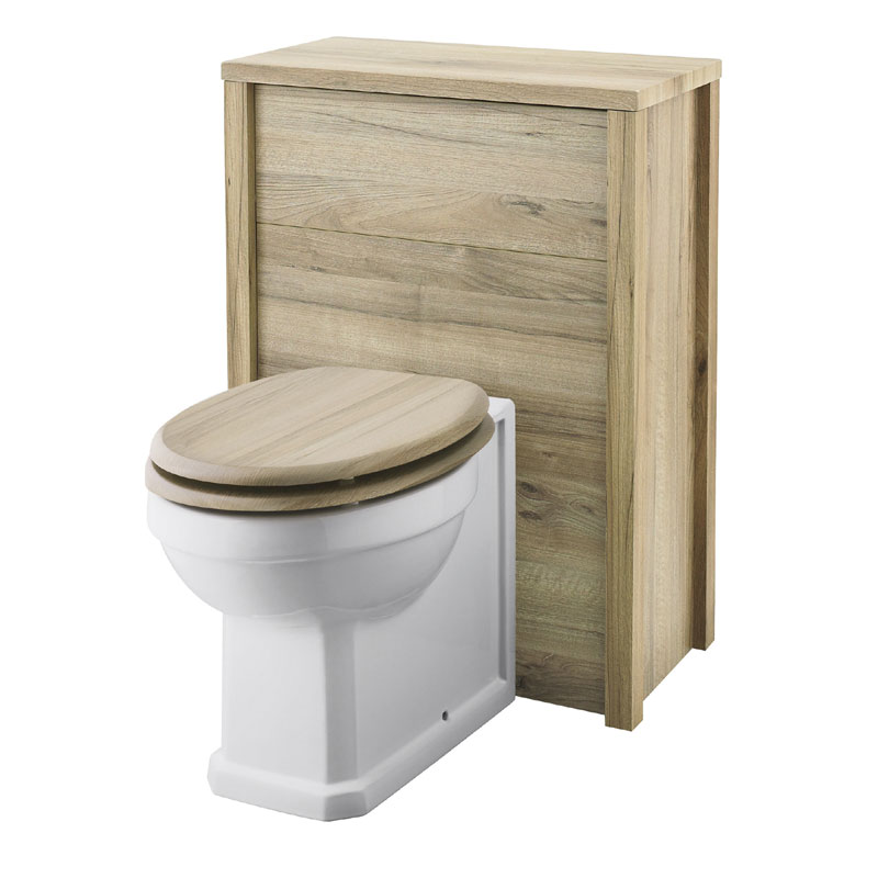 Old London - 600 Back to wall WC Unit - Natural Walnut - NLV543 Large Image