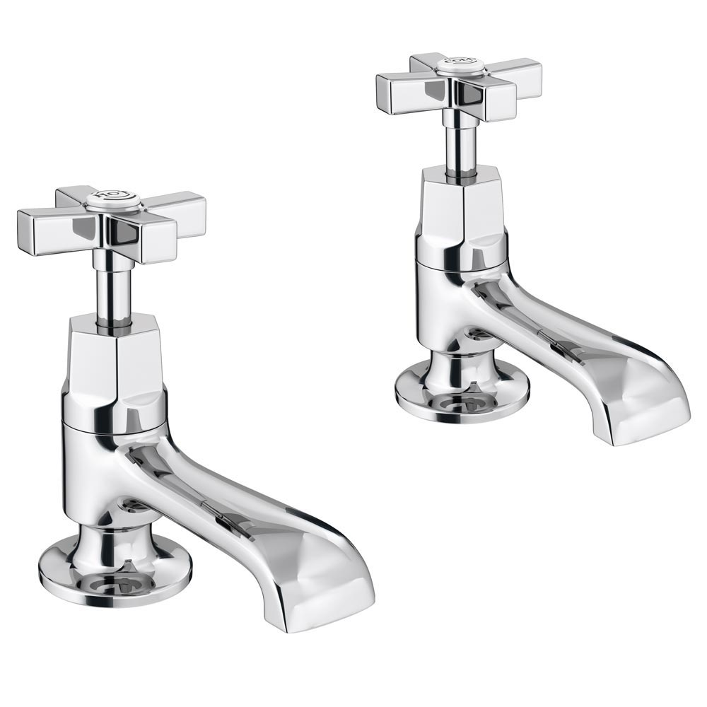 Olympia Art Deco Basin Taps