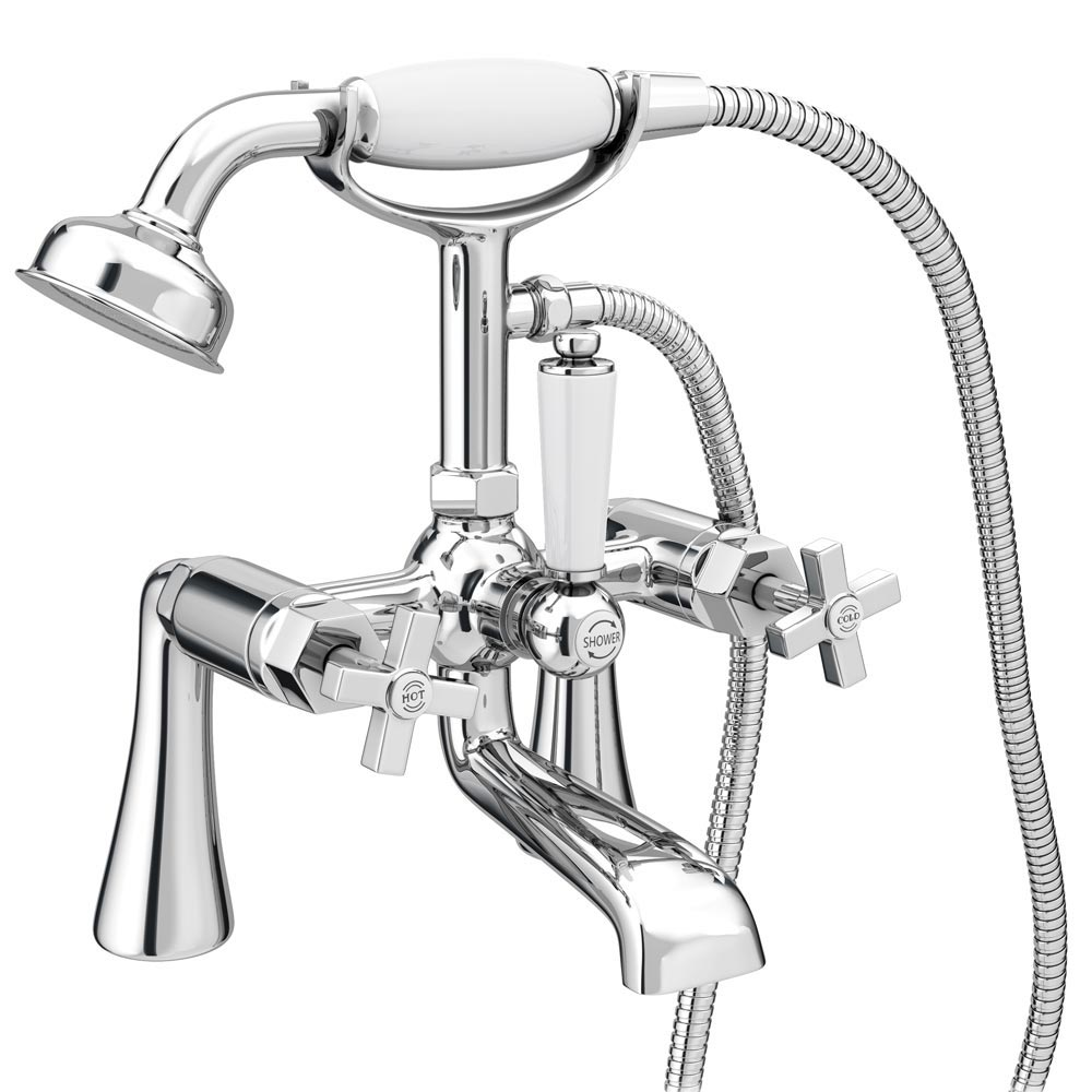 Olympia Art Deco Bath Shower Mixer Tap