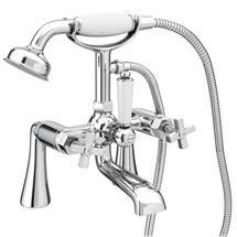 Olympia Art Deco Bath Shower Mixer Tap + Shower Kit Medium Image