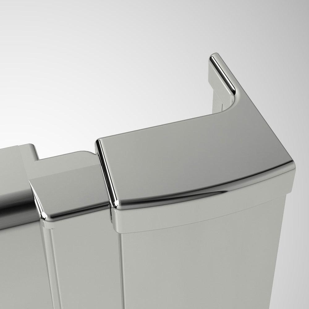 Coram - Optima Sliding Shower Door - Chrome - Various Size Options profile large image view 2