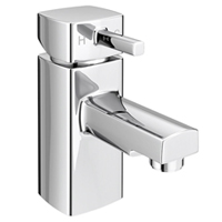 Contemporary styling of a basin tap