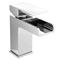 Smooth, curved styling of a contemporary basin tap
