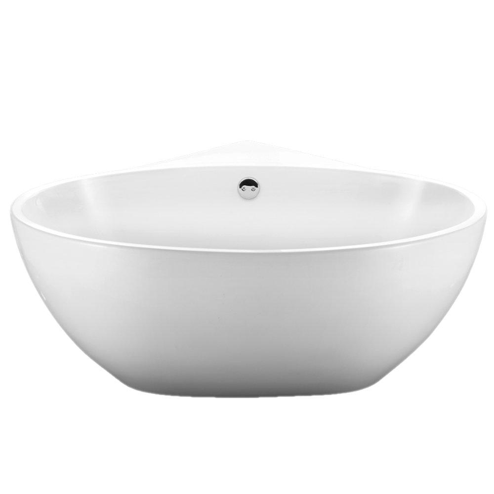 Orbit Corner Modern Free Standing Bath (1270 x 1270mm) Profile Large Image