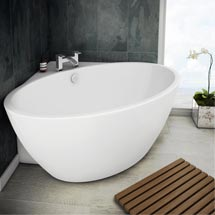Orbit Corner Modern Free Standing Bath (1270 x 1270mm) Medium Image