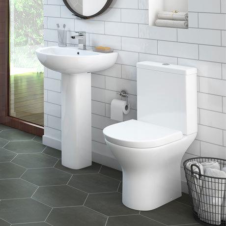 Orion 4-Piece Short Projection Modern Bathroom Suite