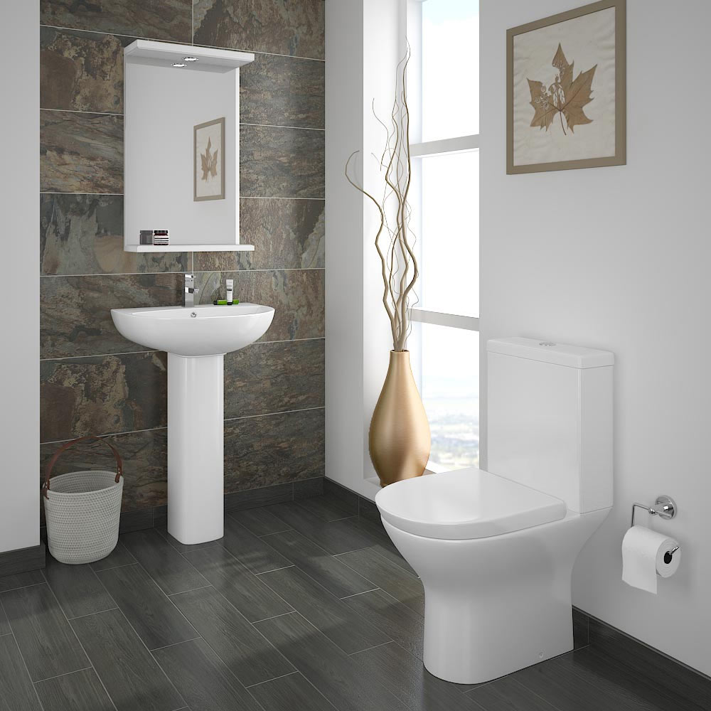 Orion 4 piece bathroom suite available from victorian for Stylish bathroom suites