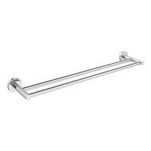 Orion 60cm Double Towel Rail - Chrome Medium Image