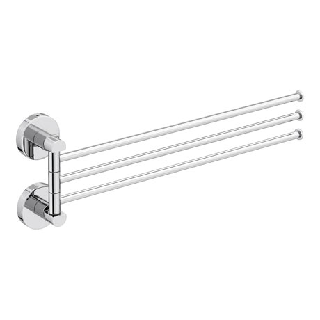 Orion Adjustable Triple Towel Rail - Chrome