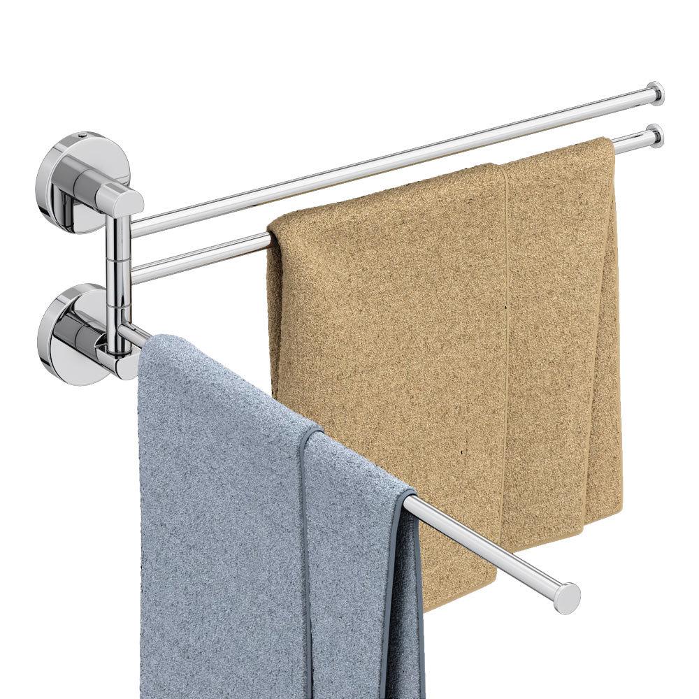 Orion Adjustable Triple Towel Rail - Chrome profile large image view 2