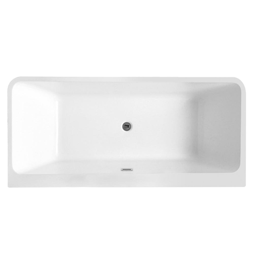 Orion Back To Wall Modern Square Bath (1700 x 780mm) Profile Large Image