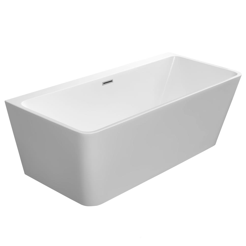 Orion Back To Wall Modern Square Bath (1700 x 780mm) Large Image