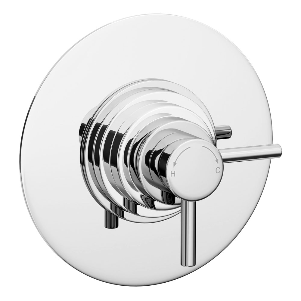 Orion Dual Exposed Thermostatic Shower Valve - Chrome profile large image view 2