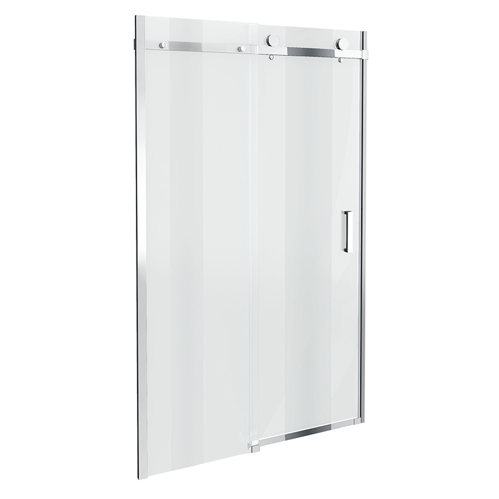 Orion frameless sliding shower door 1000mm wide for 1000mm shower door