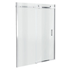 Orion Frameless Sliding Shower Door - 1600mm Wide profile small image view 1