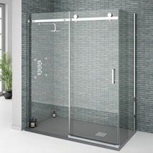 Orion Frameless Sliding Shower Enclosure - 1600 x 800mm Medium Image