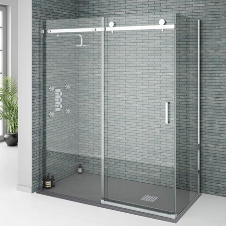Merveilleux Orion Frameless Sliding Shower Enclosure   1600 X 800mm