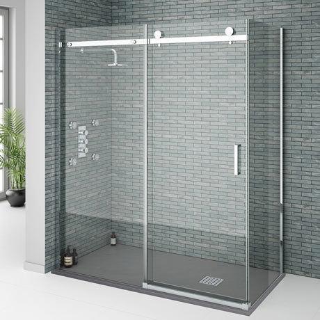 Orion Frameless Sliding Shower Enclosure - 1600 x 800mm