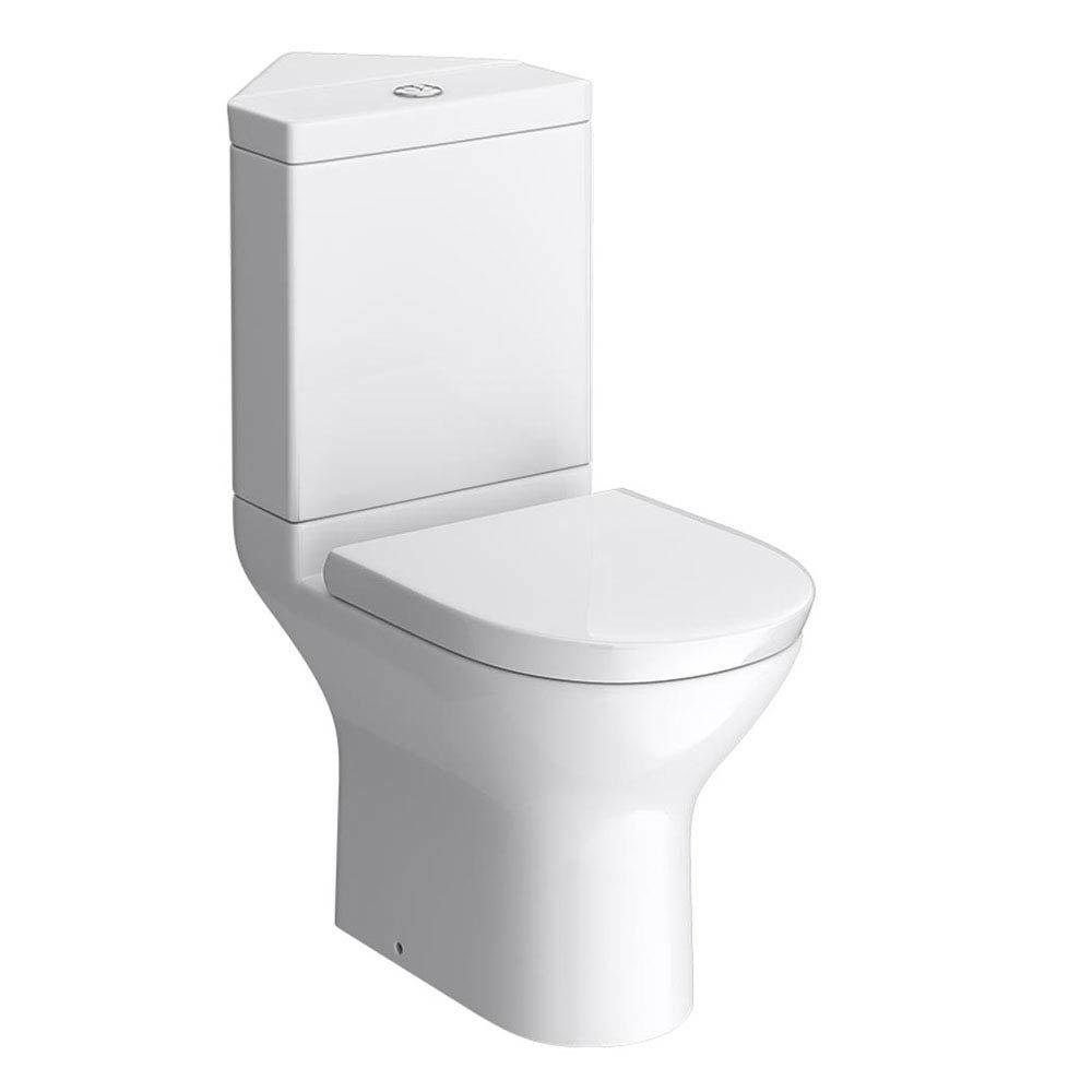 Orion Modern Corner Toilet + Soft Close Seat Large Image