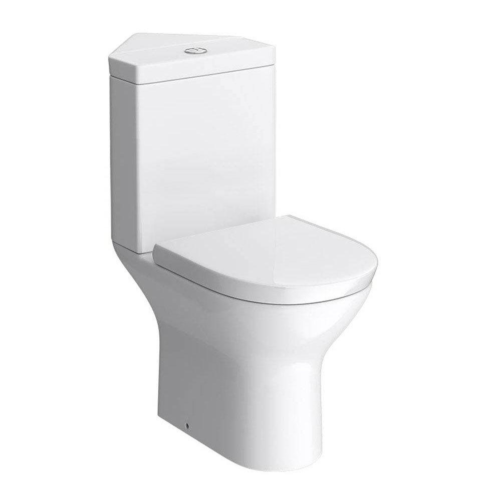 Orion Modern Corner Toilet + Soft Close Seat