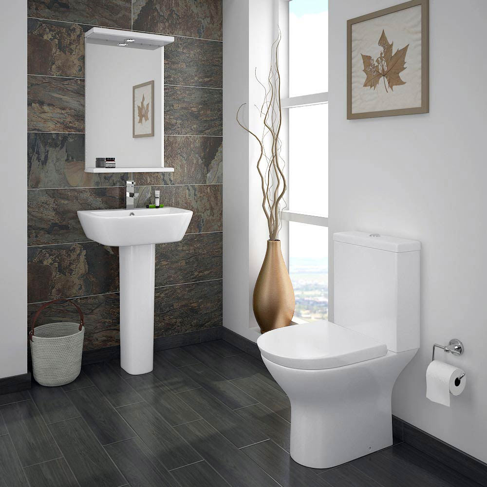 Orion Modern Short Projection Toilet + Soft Close Seat profile large image view 3