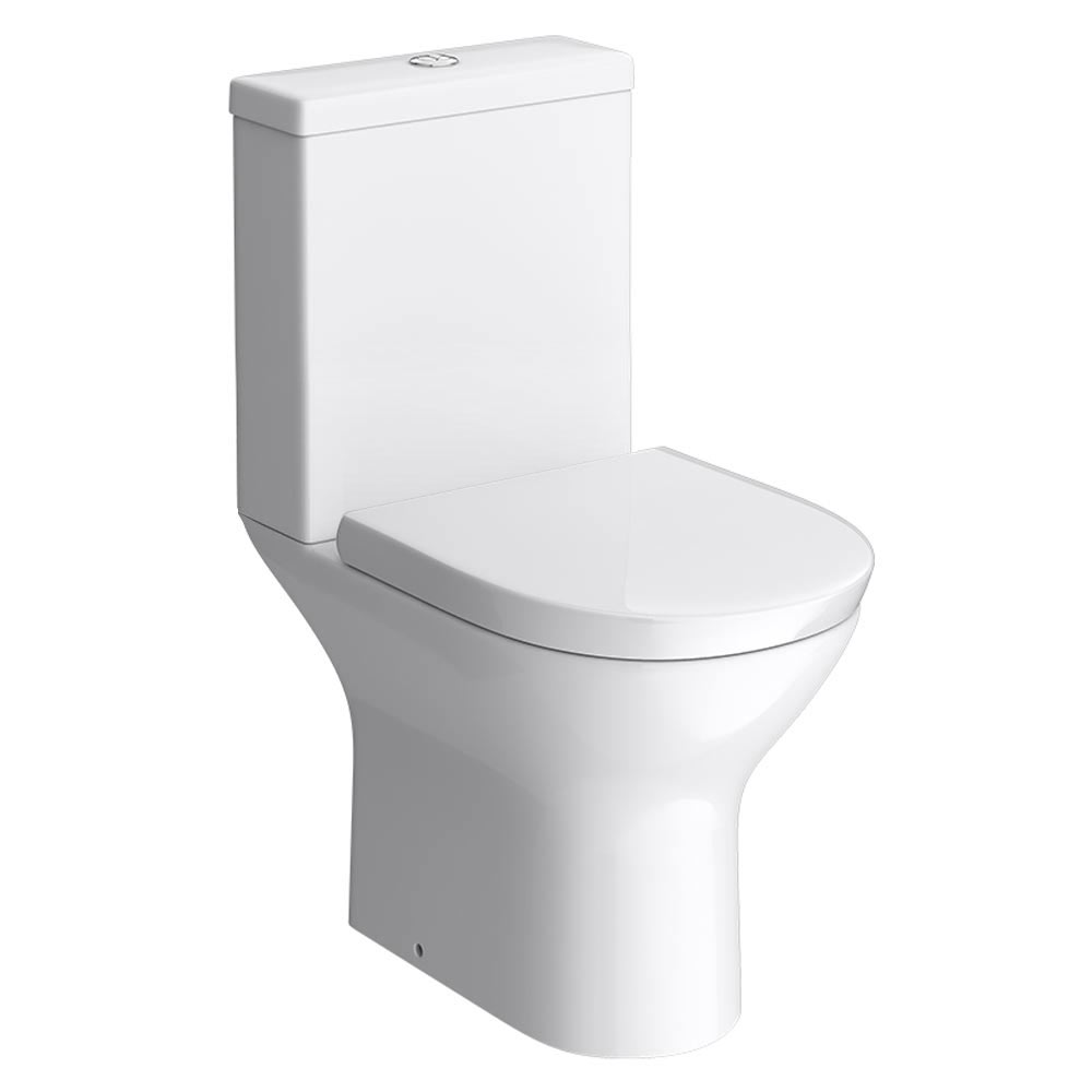 Orion Modern Short Projection Toilet + Soft Close Seat profile large image view 1