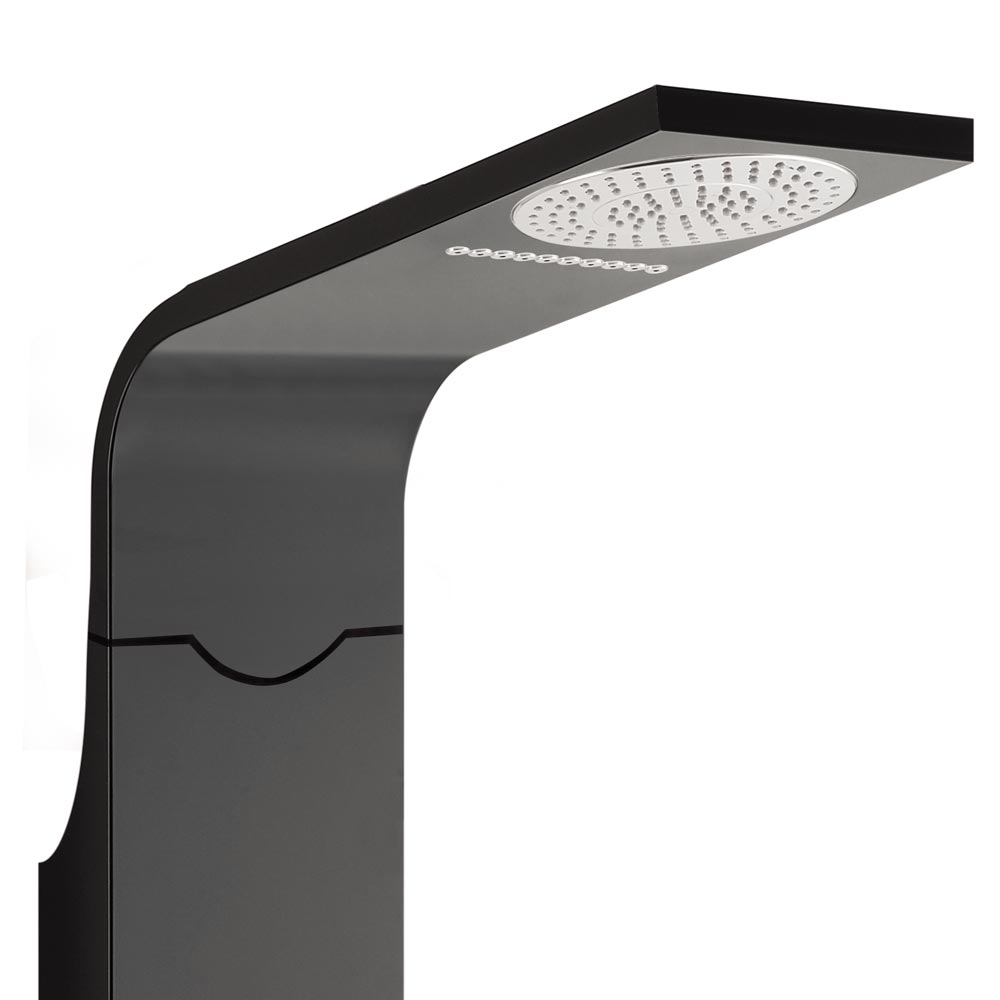 Orion Multi-Function Shower Tower Panel - Black profile large image view 2