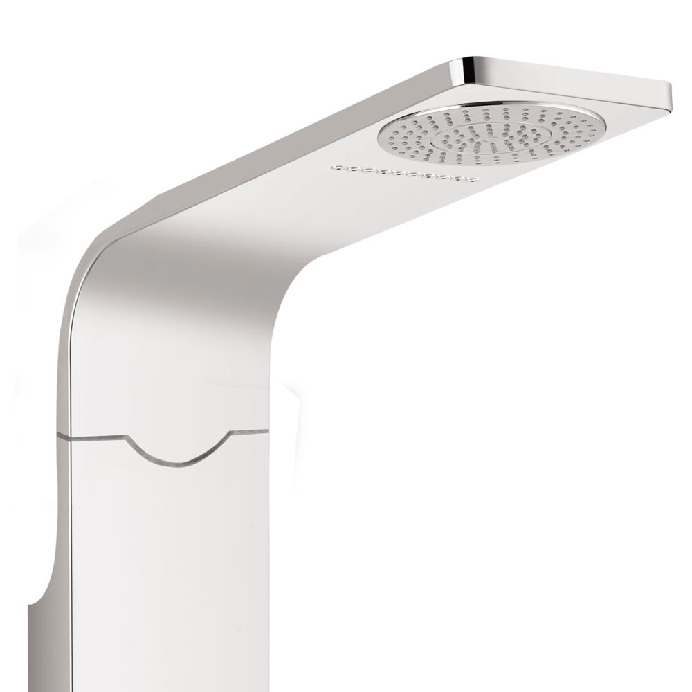 Orion Multi-Function Shower Tower Panel - Silver Profile Large Image
