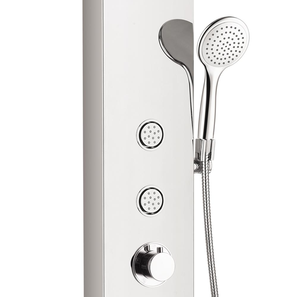 Orion Multi-Function Shower Tower Panel - Silver profile large image view 2