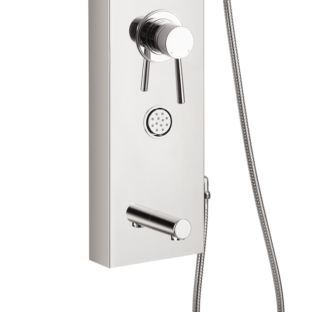 Orion Multi-Function Shower Tower Panel - Silver profile large image view 3