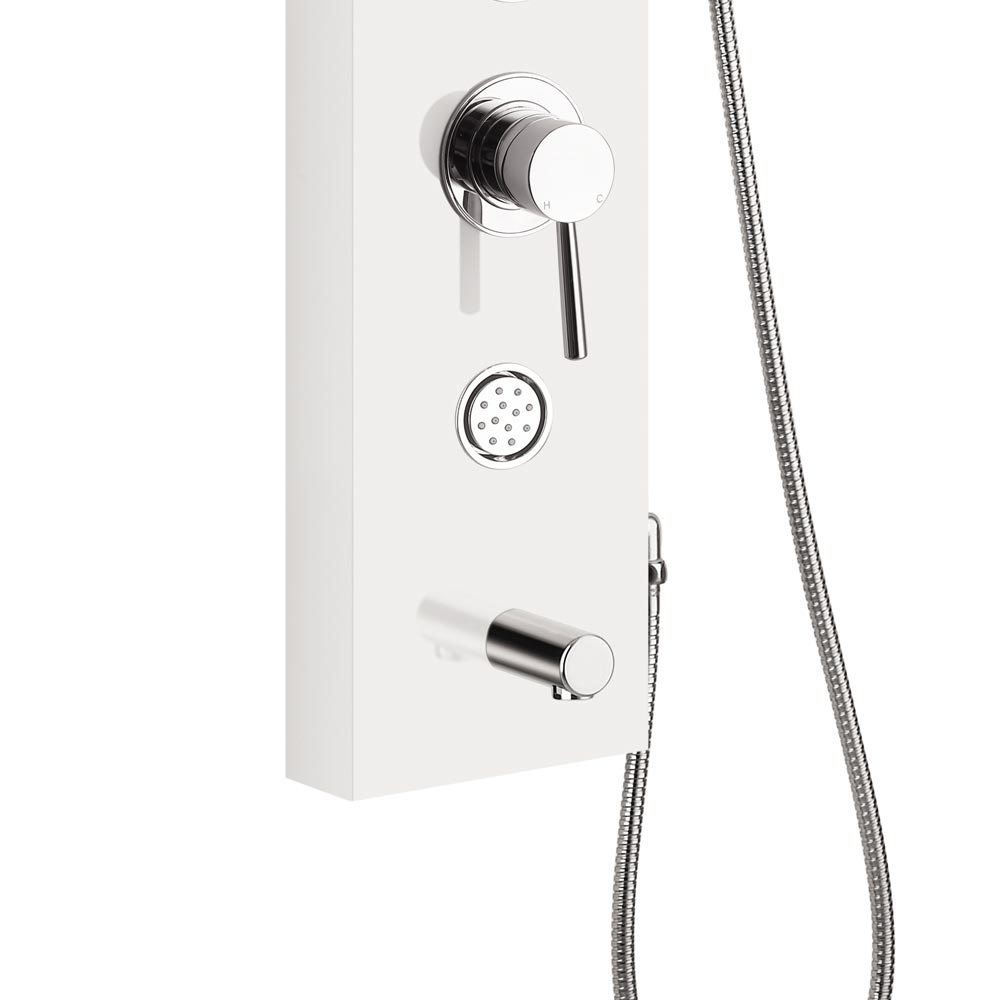 Orion Multi-Function Shower Tower Panel - White Standard Large Image