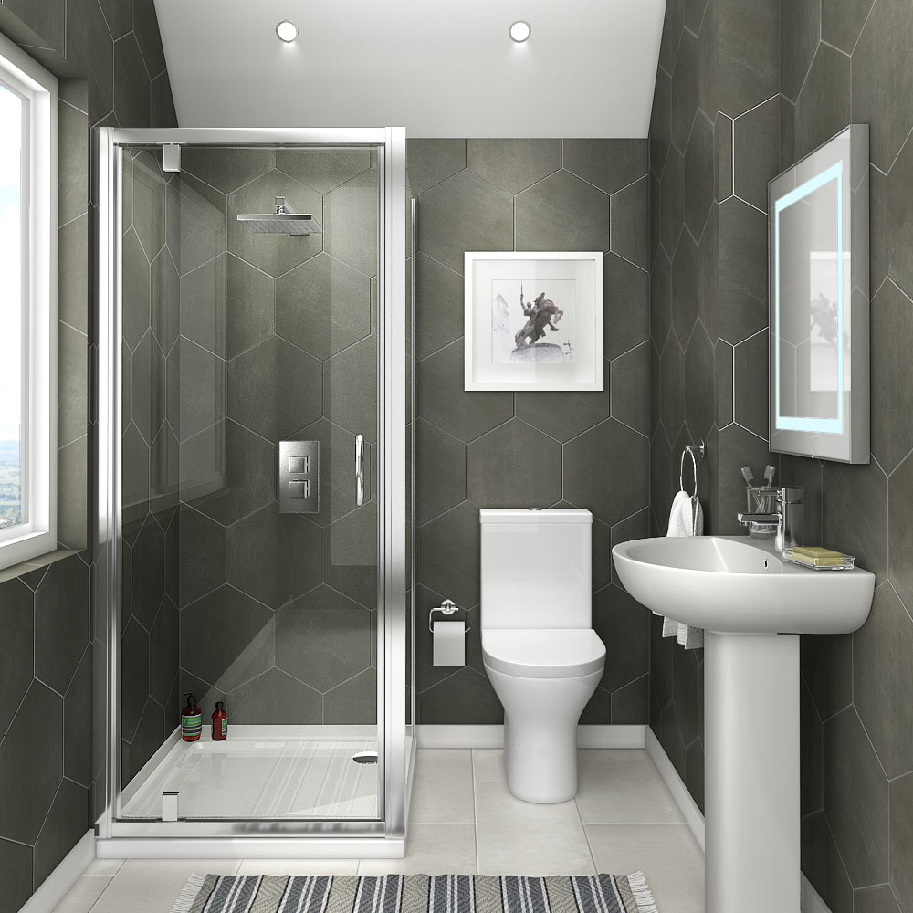 Orion space saving en suite bathroom victorian plumbing uk Small ensuites designs