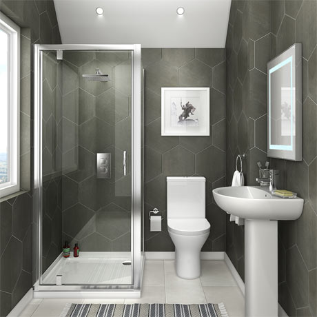 Orion space saving en suite bathroom victorian plumbing uk for Bathroom designs for small spaces uk