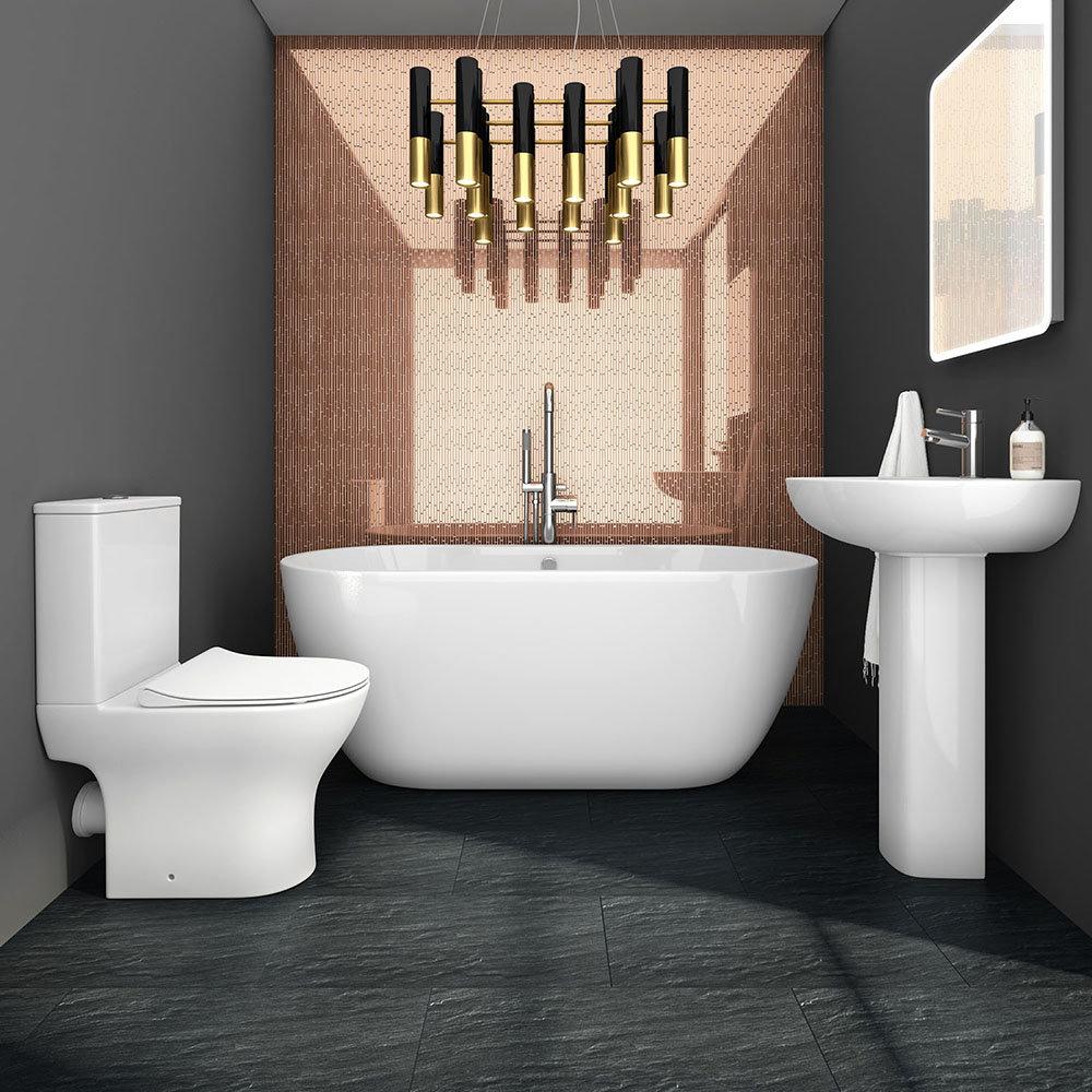 Orion modern free standing bathroom suite victorian plumbing uk