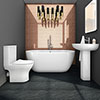 Orion Modern Free Standing Bathroom Suite profile small image view 1