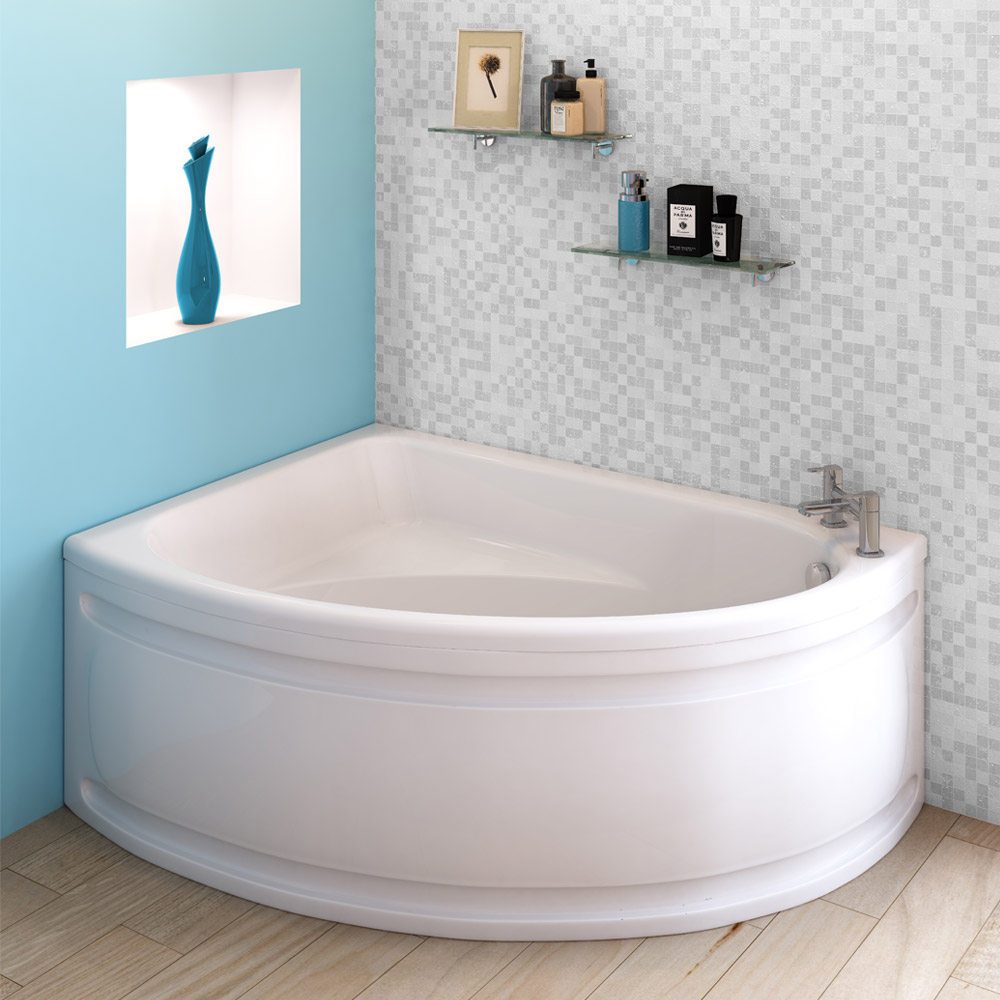 Orlando Corner Bath with Panel (Left Hand Option 1500 x 1040mm)