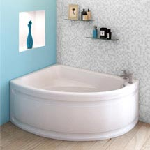 Orlando Corner Bath with Panel (Left Hand Option 1500 x 1040mm) Medium Image